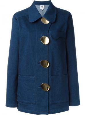 Oversized button denim jacket Opening Ceremony. Цвет: синий