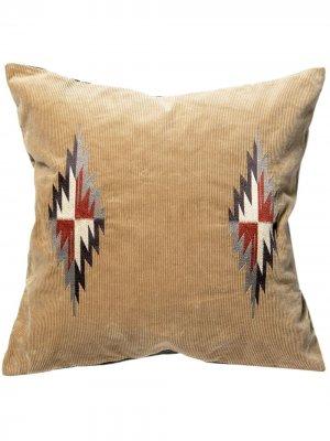 Подушка с вышивкой BasShu. Цвет: нейтральные цвета