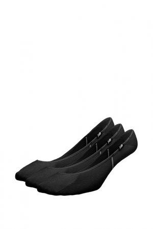 Носки NO SHOW LINER SOCK3 PAIR New Balance. Цвет: черный