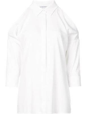 Рубашка с разрезами на плечах Kaufmanfranco. Цвет: белый