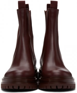 Burgundy Chester Chelsea Boots Gianvito Rossi. Цвет: royale