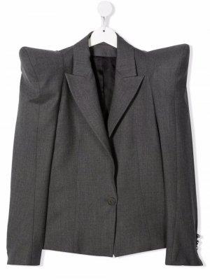 Пиджак с объемными плечами Balmain Kids. Цвет: серый