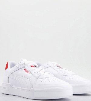 Красные и белые кроссовки с несколькими логотипами в виде кошки CA Pro эксклюзивно для ASOS-Белый Puma