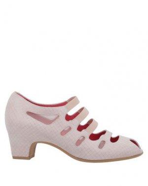 Ботинки PAS DE ROUGE. Цвет: светло-розовый