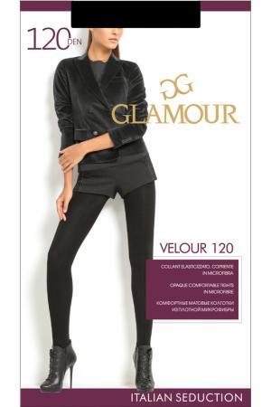 Матовые колготки 120 den Glamour. Цвет: черный