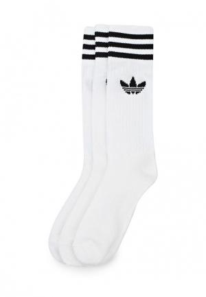 Комплект adidas Originals SOLID CREW SOCK. Цвет: белый
