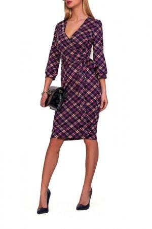 Платье FABIEN DE FERANTE. Цвет: темно-синий, малиновый