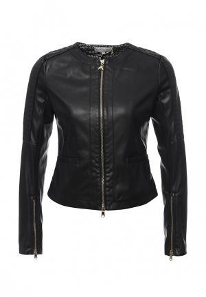 Куртка кожаная Patrizia Pepe PA748EWPAF31. Цвет: черный