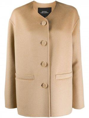 Пальто на пуговицах без воротника Marc Jacobs. Цвет: нейтральные цвета