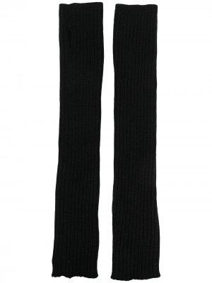 Кашемировые перчатки-рукава Rick Owens. Цвет: черный