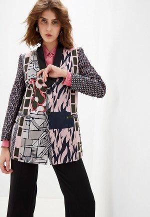 Пиджак Emporio Armani. Цвет: разноцветный