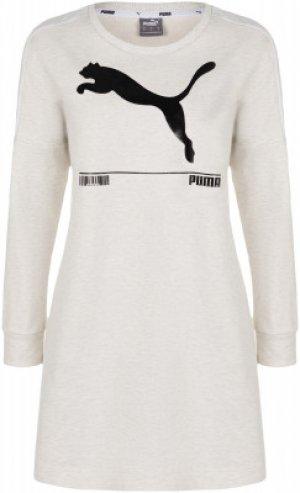 Платье женское Nu-tility, размер 42-44 Puma. Цвет: белый