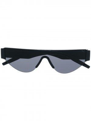 Солнцезащитные очки с логотипом Puma. Цвет: черный