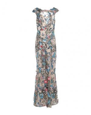 Длинное платье MIKAEL. Цвет: телесный