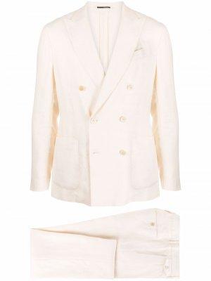 Костюм с двубортным пиджаком Lardini. Цвет: нейтральные цвета