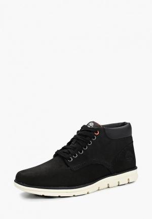 Ботинки Timberland BRADSTREET CHUKKA LE BLACK. Цвет: черный