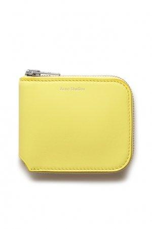 Бумажник на молнии Acne Studios. Цвет: желтый