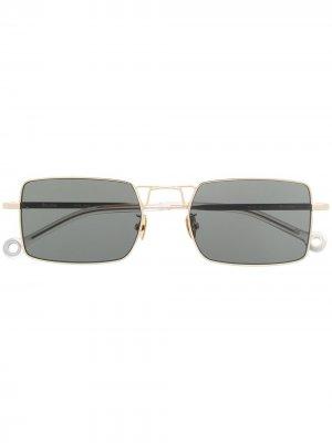 Солнцезащитные очки Paris Etudes. Цвет: золотистый