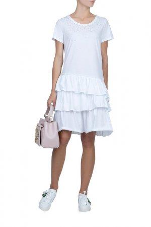 Платье MYTWIN. Цвет: белый