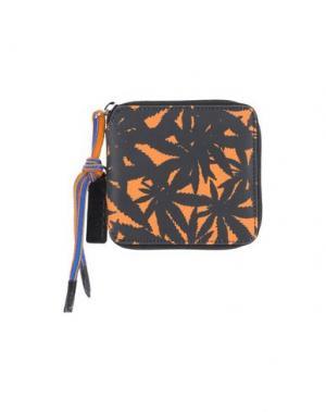 Бумажник MSGM. Цвет: оранжевый