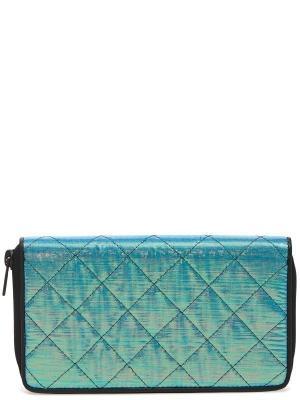 Бумажник ISSEY MIYAKE. Цвет: синий