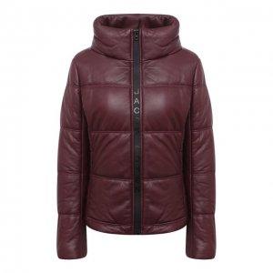 Кожаная куртка Jacob Cohen. Цвет: красный