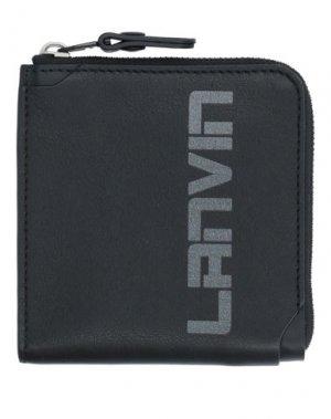 Кошелек для монет LANVIN. Цвет: черный