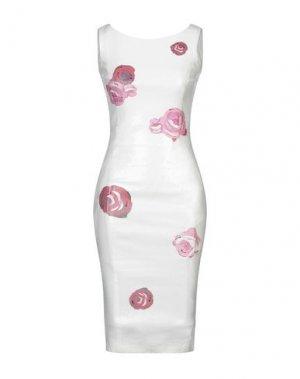 Платье до колена EAN 13. Цвет: слоновая кость