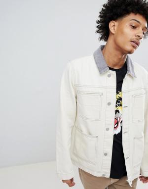 Джинсовая куртка с вельветовым воротником ASOS DESIGN