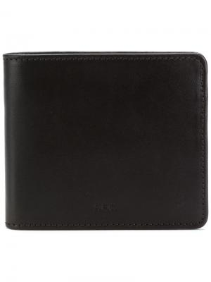 Классический бумажник A.P.C.. Цвет: коричневый