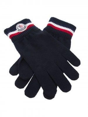 Вязаные перчатки Moncler. Цвет: синий
