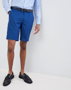 Синие облегающие шорты от костюма Farah wedding-Голубой Smart