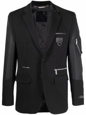 Пиджак Iconic Philipp Plein. Цвет: черный