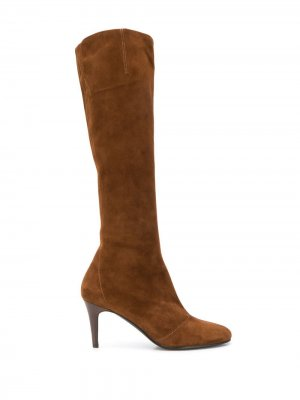 Сапоги на каблуке Michel Vivien. Цвет: коричневый