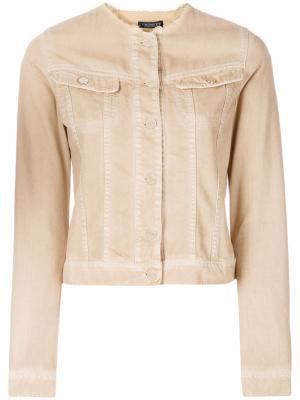 Джинсовая куртка с вышивкой Twin-Set. Цвет: телесный