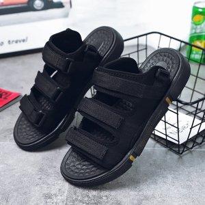 Спортивные сандалии минималистичный Износостойкий SHEIN. Цвет: чёрный