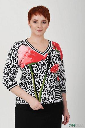 Пуловер Frank Walder. Цвет: разноцветный