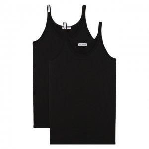 Комплект из двух хлопковых маек Dolce & Gabbana. Цвет: чёрный