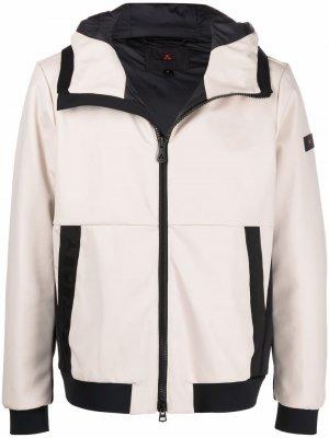 Куртка с капюшоном и нашивкой-логотипом Peuterey. Цвет: нейтральные цвета