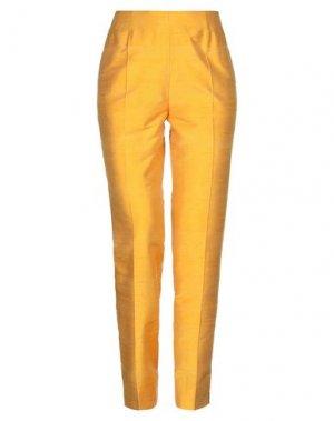 Повседневные брюки BOTONDI COUTURE. Цвет: охра