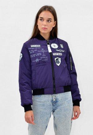 Куртка утепленная Doctor E. Цвет: фиолетовый