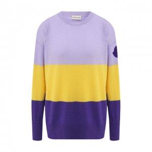 Кашемировый пуловер Moncler. Цвет: фиолетовый