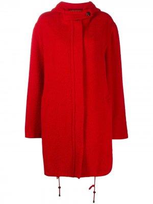 Однобортное пальто 1990-х годов с капюшоном Gianfranco Ferré Pre-Owned. Цвет: красный