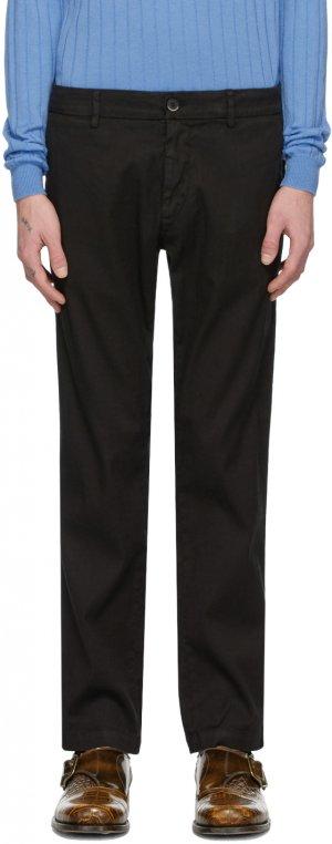 Black Linen Rubio Trousers Barena. Цвет: 590 black