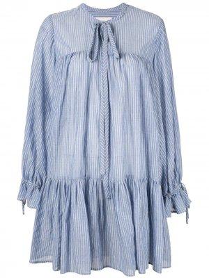 Короткое платье в полоску Karen Walker. Цвет: синий