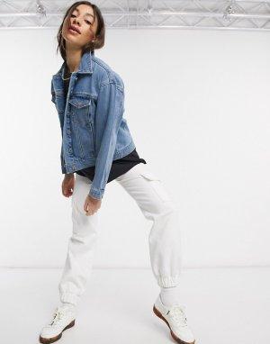 Синяя джинсовая куртка Abrand-Синий Abrand Denim