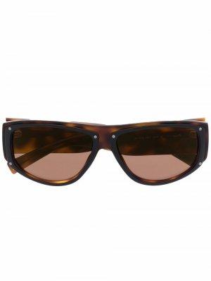 Солнцезащитные очки в оправе кошачий глаз черепаховой расцветки Givenchy Eyewear. Цвет: коричневый
