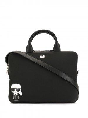 Сумка для ноутбука K/Ikonic Karl Lagerfeld. Цвет: черный