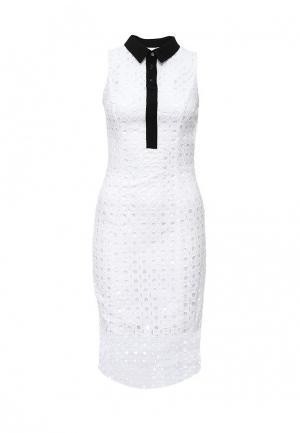 Платье Lost Ink LULA BRODERIE & COLLAR DRESS. Цвет: белый