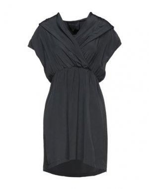 Короткое платье HOTEL PARTICULIER. Цвет: стальной серый